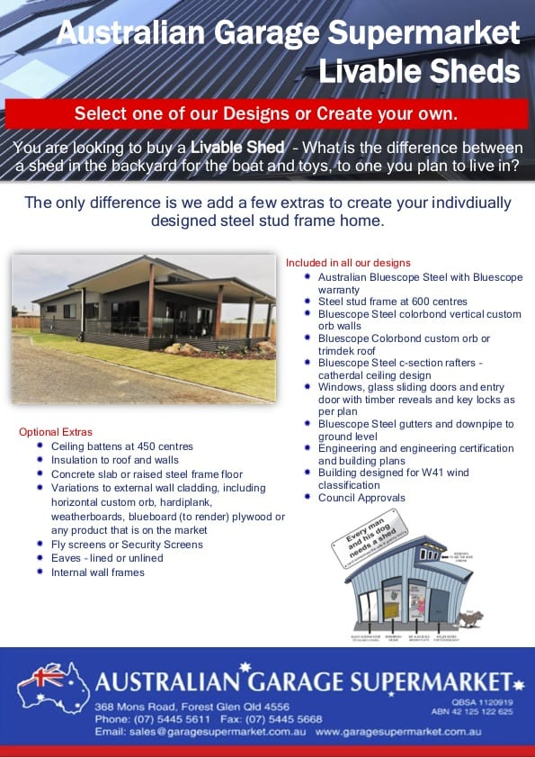 , Download our Livable Sheds Brochure