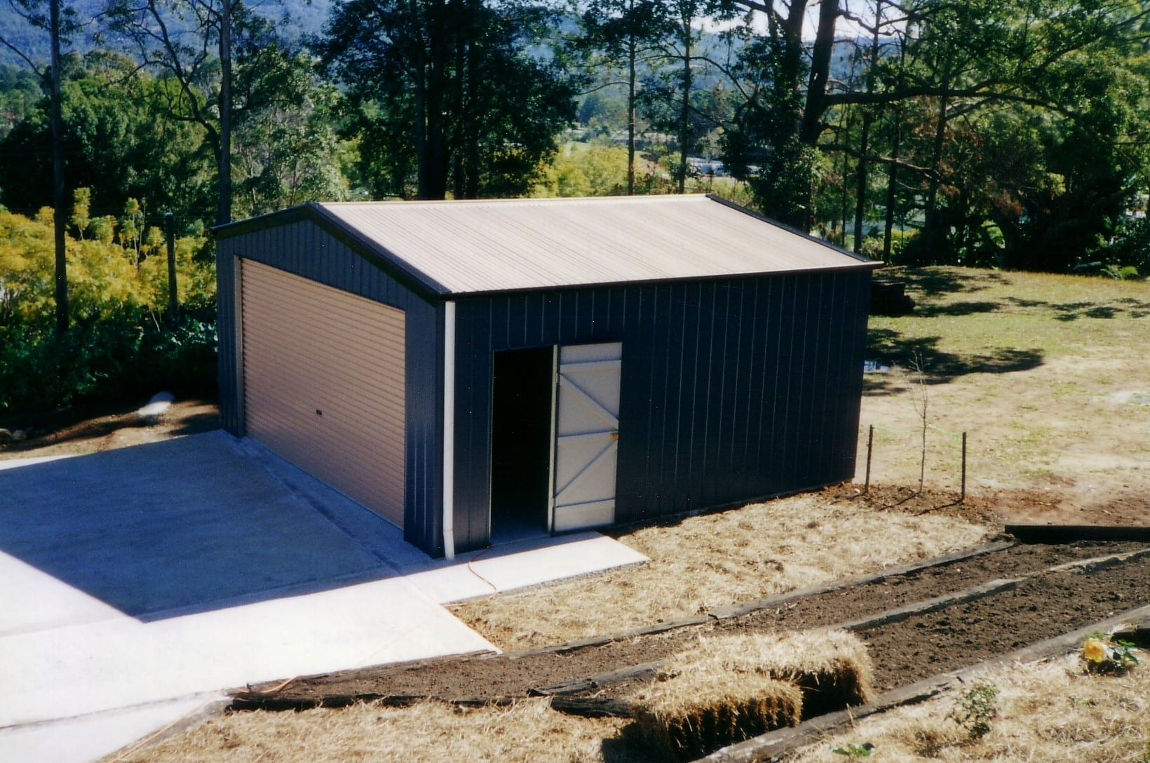 Gable blue single rd shed