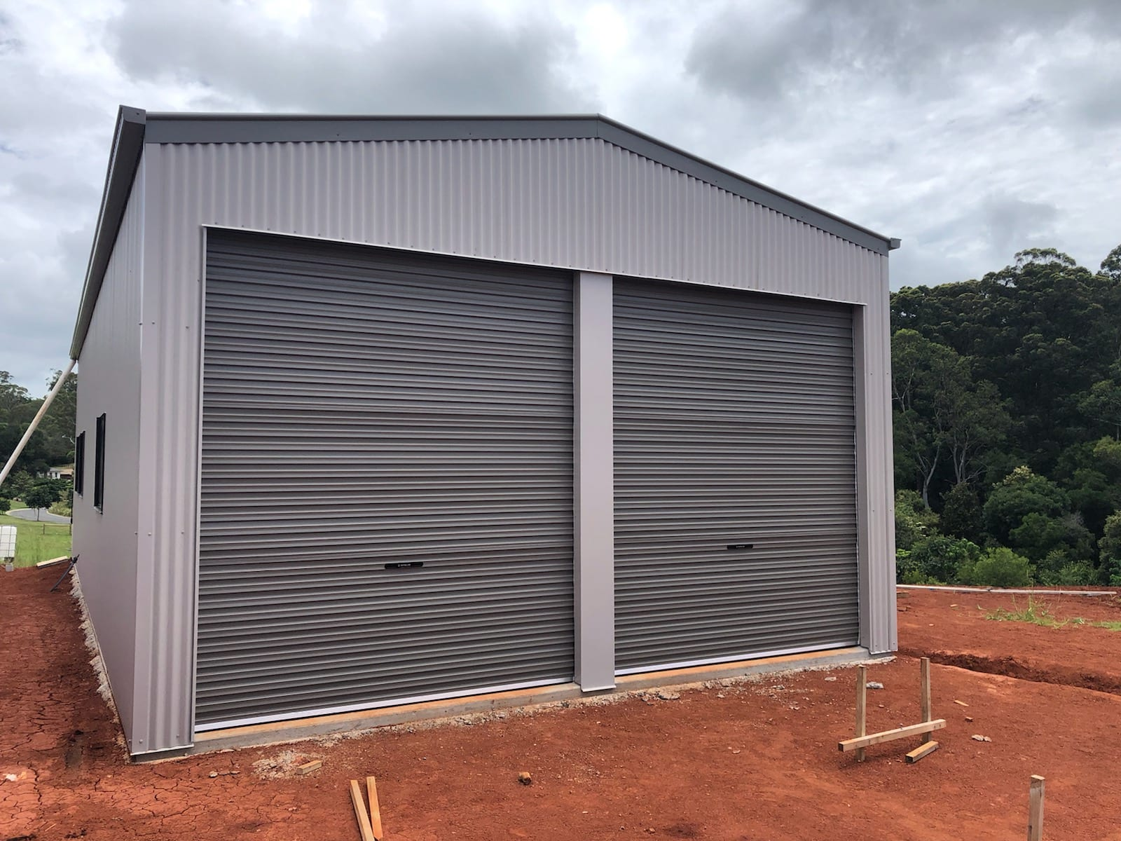 Gable brown shed 2xrd