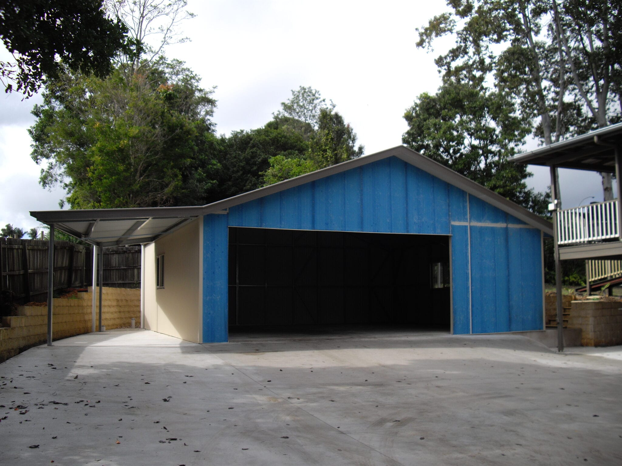 Gable shed carport with owning (3)