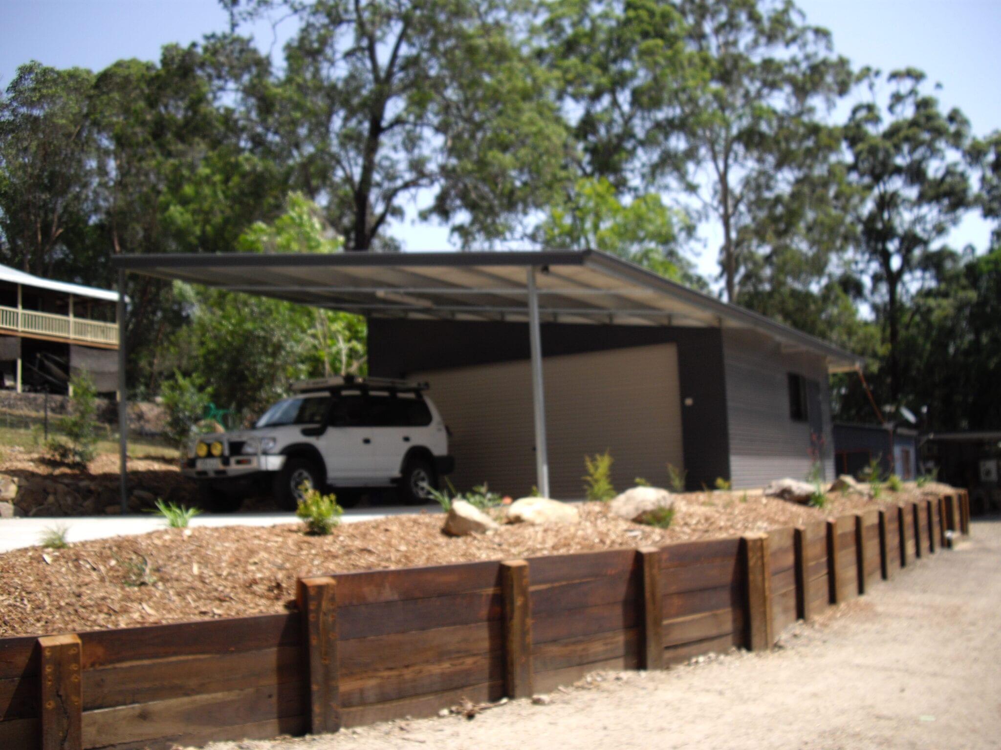 Skillion Black with garage 1xrd