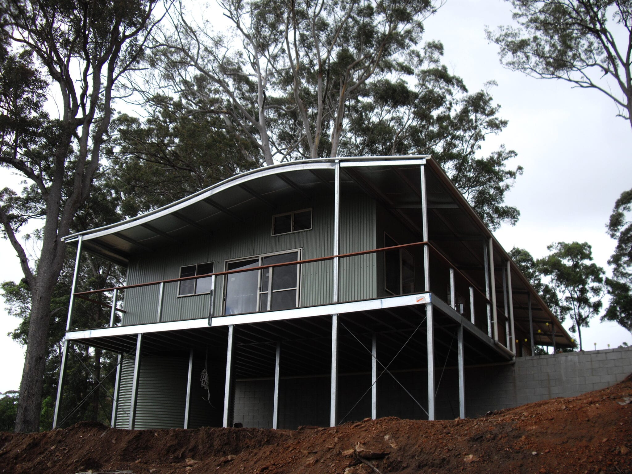 Wave Curved roof livable balcony