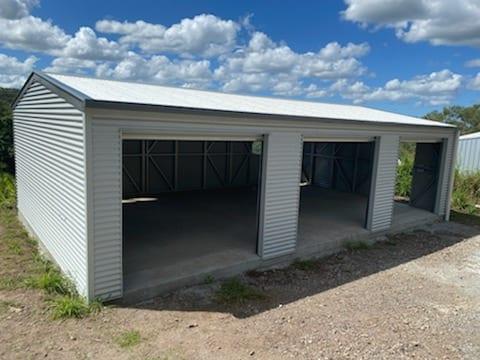 3 door gable shed door open