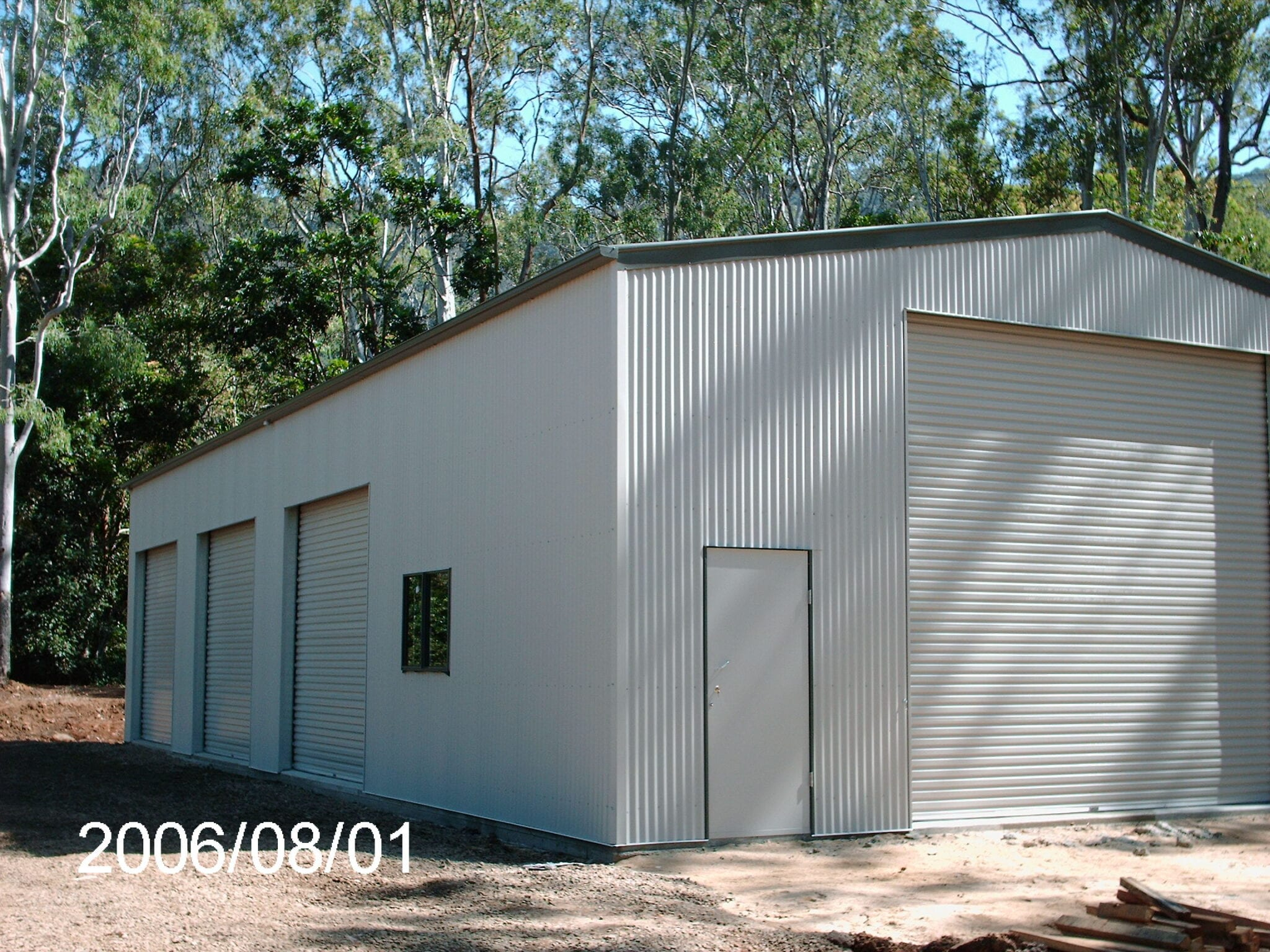 4x rd white gable shed