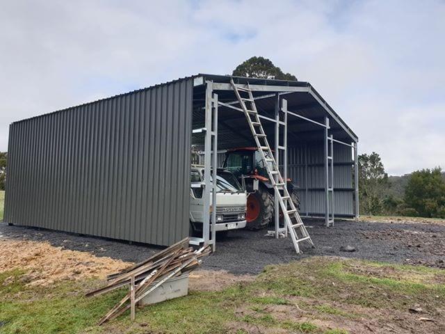 Black gable shed frame
