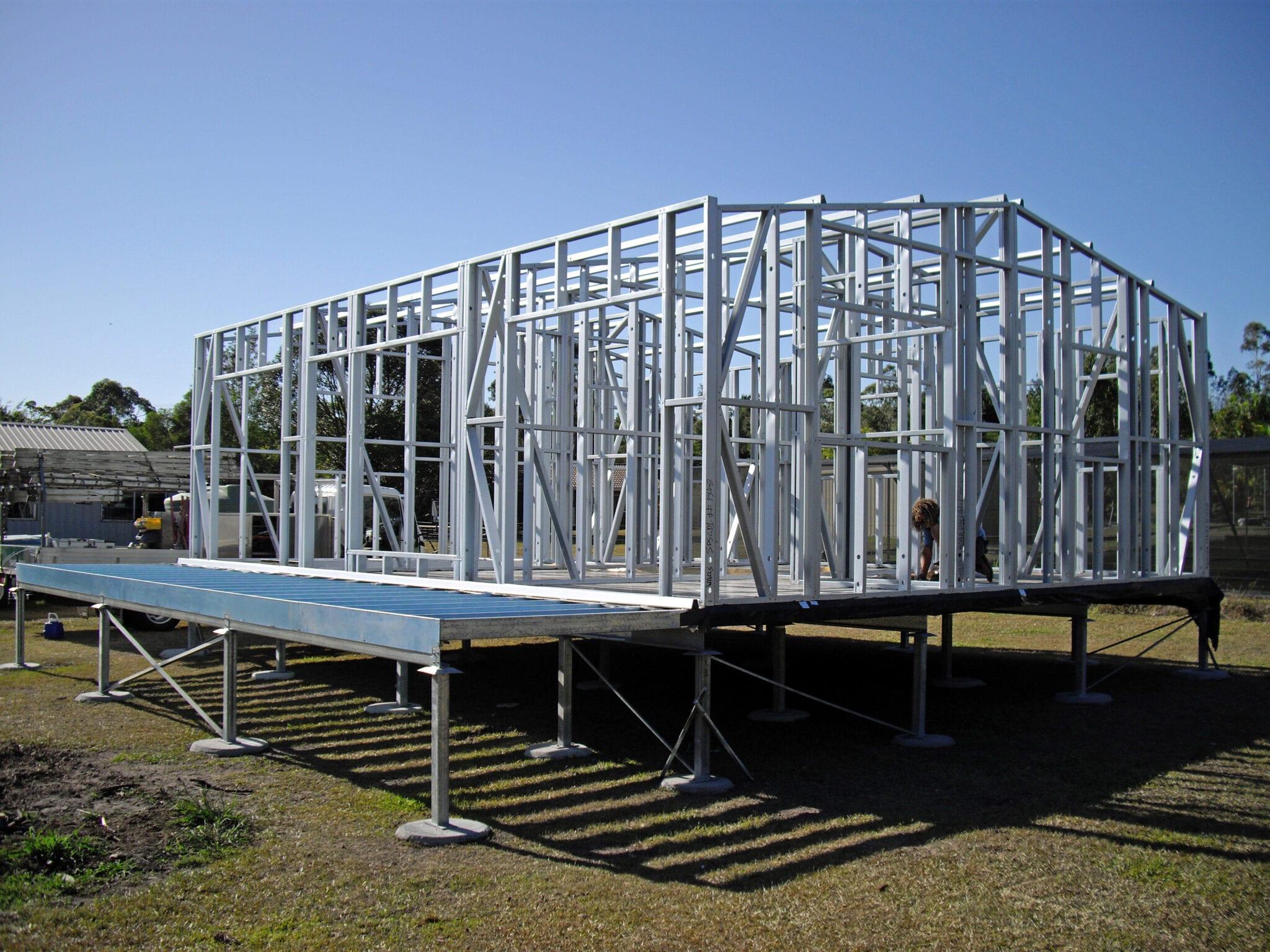 Gable frame elevatedslab