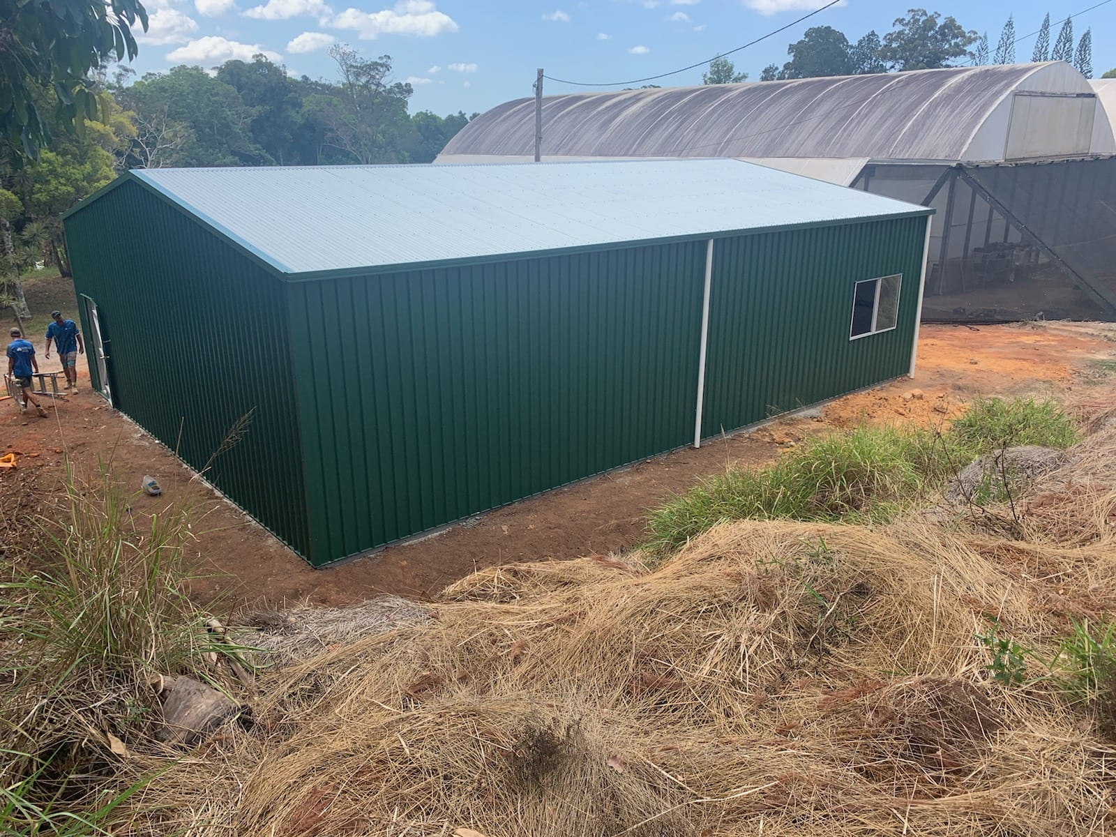 Gable green double sectioned industrial 2xrd