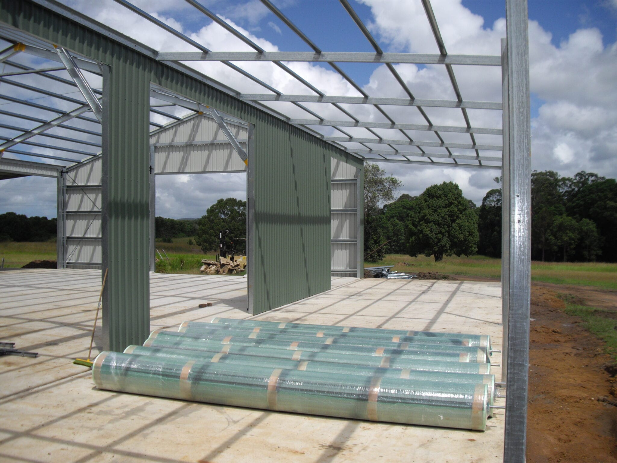Industrial gable steel frame with sheets (4)
