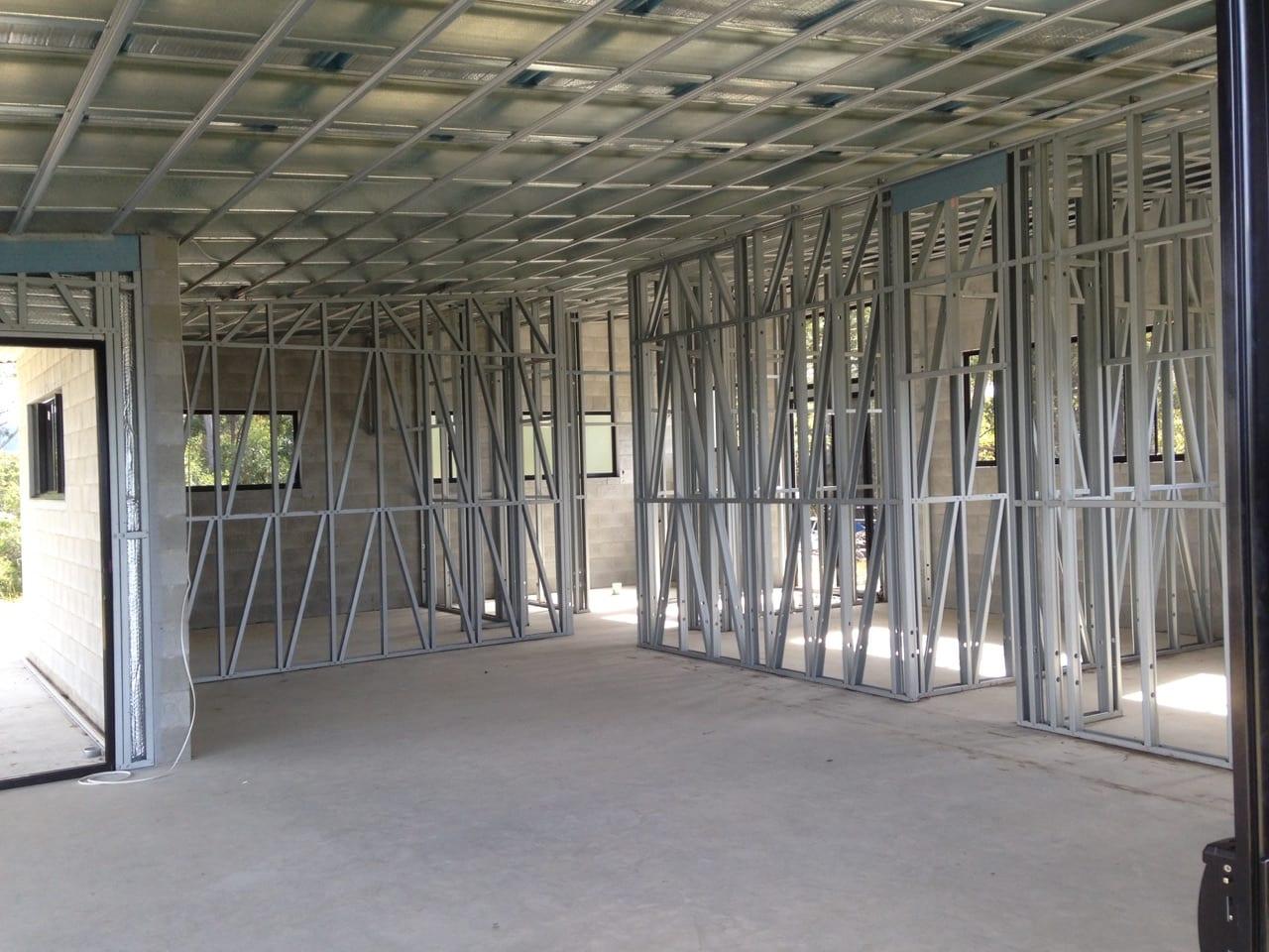 Inside livable steel frame