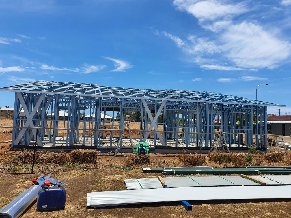 Skillion large wood livable steel frame (2)