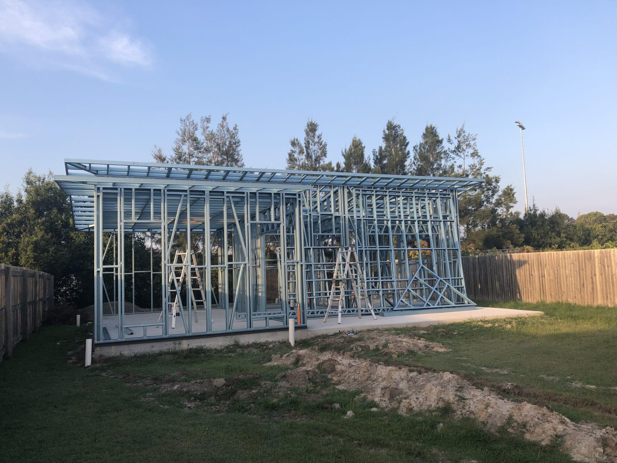 Skillion livable steel frame (2)