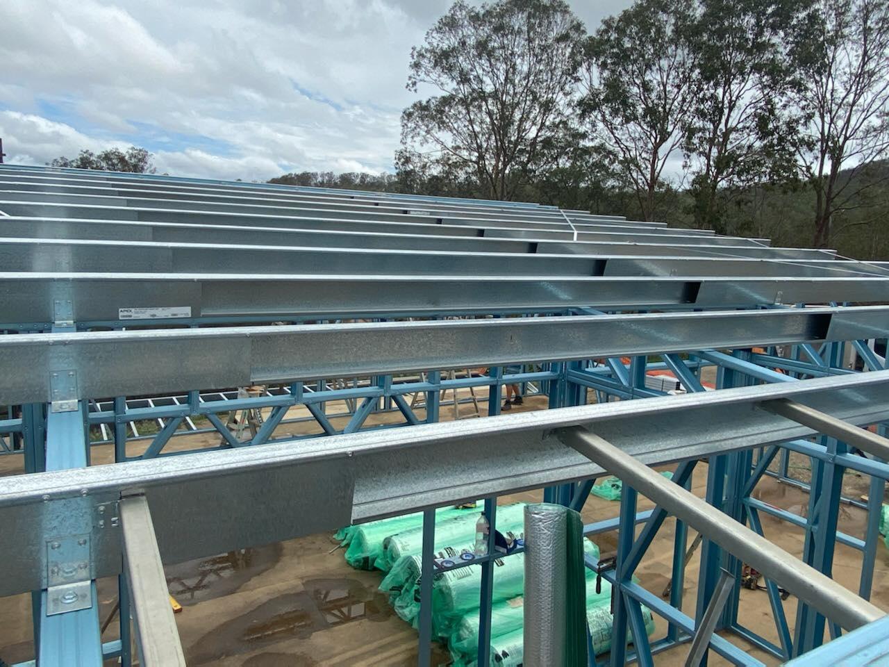 Skillion roof frame