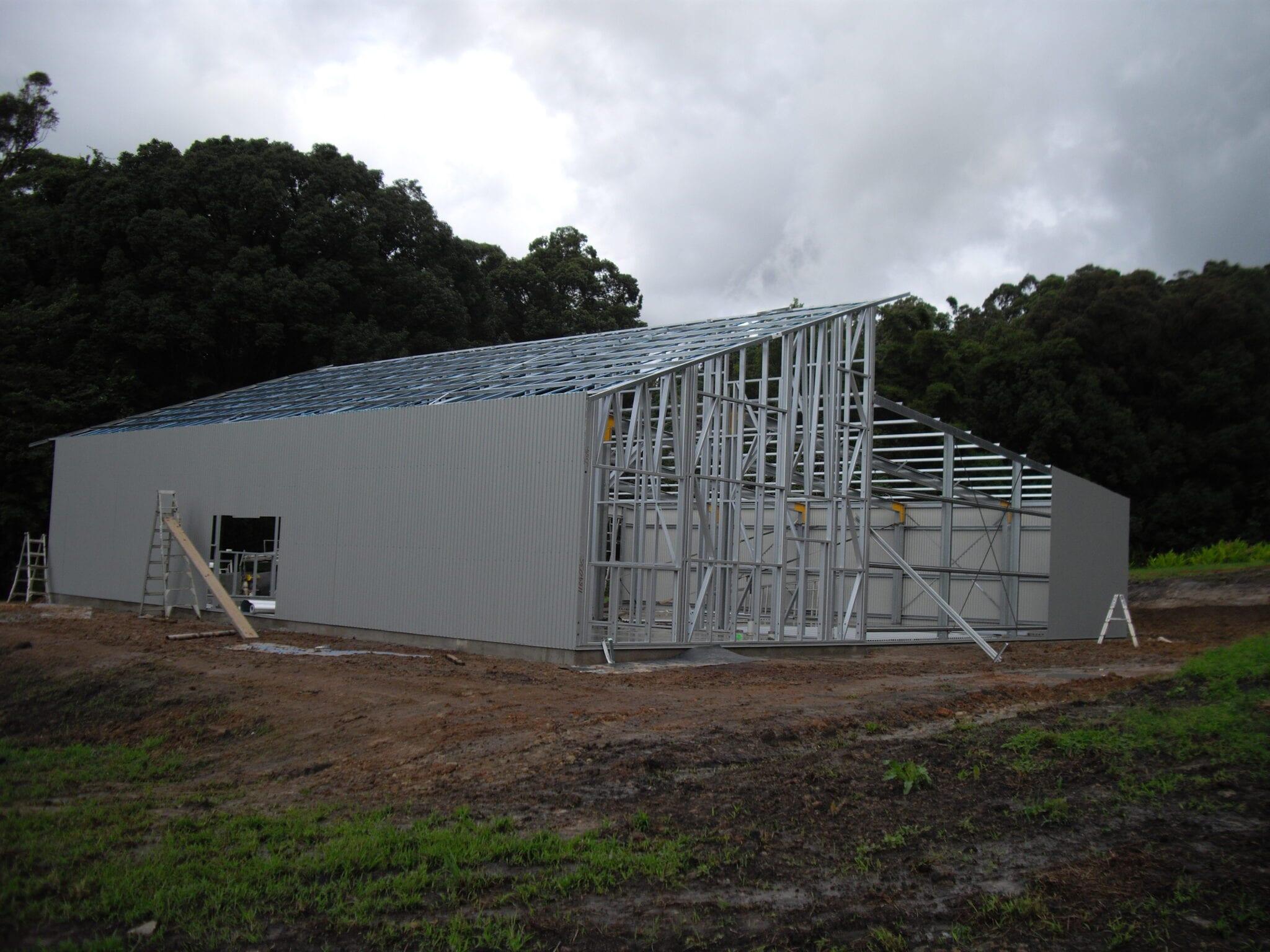 Skillion split steel frame wall sheets (2)