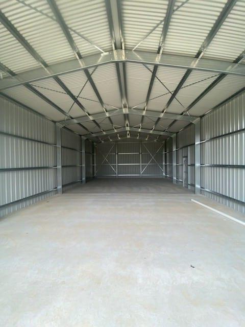 inside industrial shed